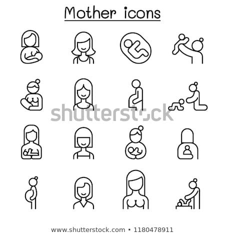 Incinta madre care icona famiglia mano Foto d'archivio © djdarkflower