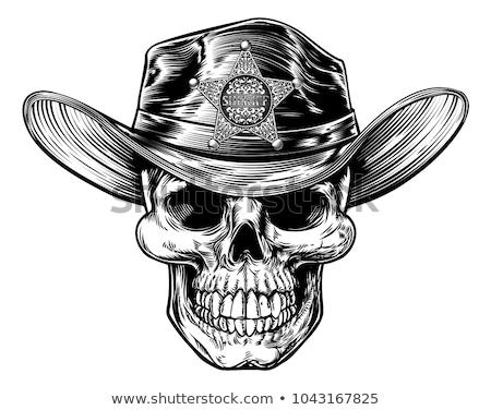 vintage style skull sheriff stock photo © krisdog