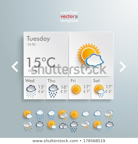 Vreme icoană furtună 3D 3d face ilustrare Imagine de stoc © djmilic