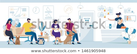 Veterinary Clinic Reception Appointment Patients Stock photo © robuart