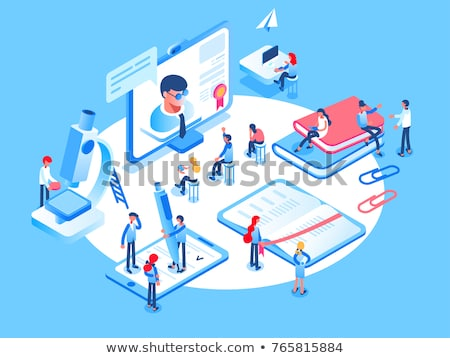 Digital education isometric 3D concept illustration. Stock photo © RAStudio