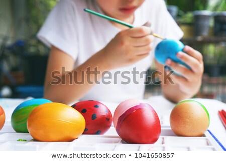 ovos · de · páscoa · conjunto · livro · para · colorir · adulto · projeto - foto stock © artspace
