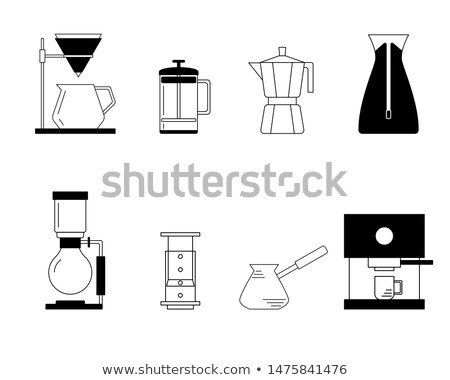 Brewing flat concept icons Stock photo © netkov1