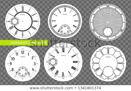clock face blank set isolated on transparent background vector watch design vintage roman numeral stock photo © iaroslava