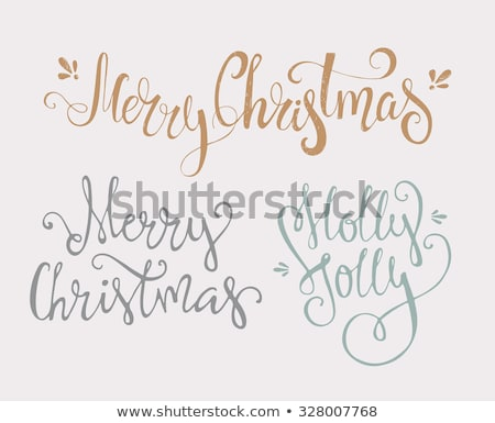 New Year Lettering Handdrawn Text, Merry Christmas Stock photo © robuart