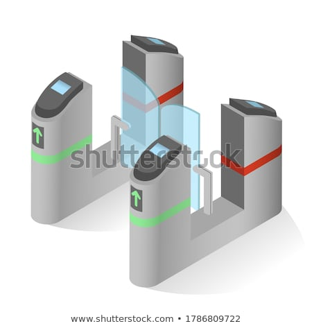 Vector isometric public accessible toilet Stock photo © tele52