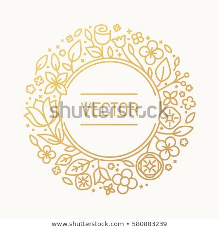色 ヴィンテージ 花屋 エンブレム ベクトル ロゴ ストックフォト © netkov1