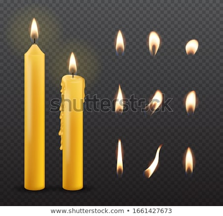realistic candlelight fire element design vector stock photo © pikepicture