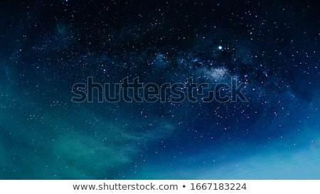 Night Shining Starry Sky Blue Space Background Stock photo © barbaliss
