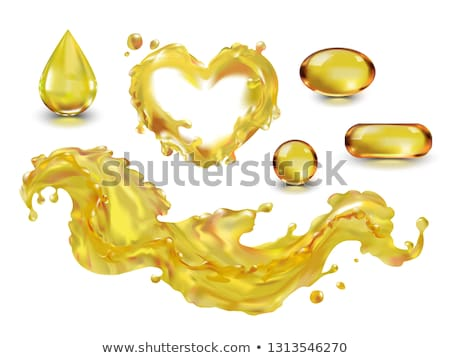 Stock photo: capsule with heart on white background. Isolated 3D illustration