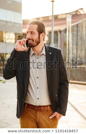Quadro conteúdo corporativo homem escritório gerente Foto stock © deandrobot