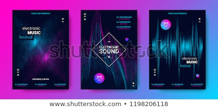 party music equalizer flyer stock photo © alexaldo