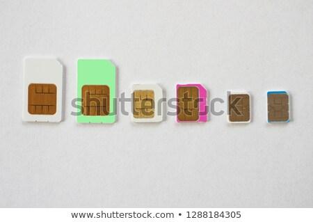 Mini mikro kartları görmek farklı Stok fotoğraf © AndreyPopov