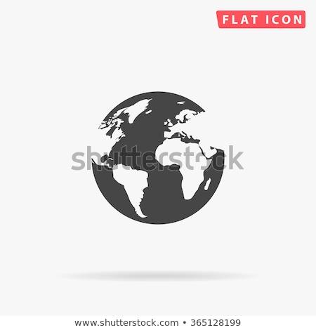 иллюстрация земле набор икона бизнеса мира Сток-фото © Blue_daemon
