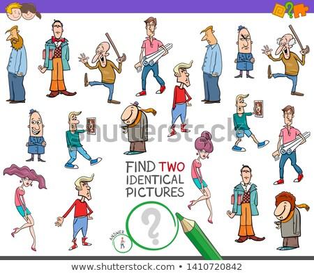 talál · kettő · azonos · emberek · játék · gyerekek - stock fotó © izakowski