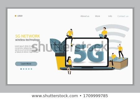High-Speed- Internet Service online Seite Menschen Stock foto © robuart