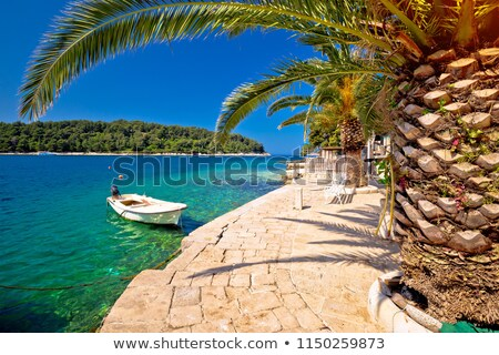 идиллический бирюзовый каменные пляж морем регион Сток-фото © xbrchx