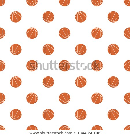 Stock photo: Basketball Elements Pattern