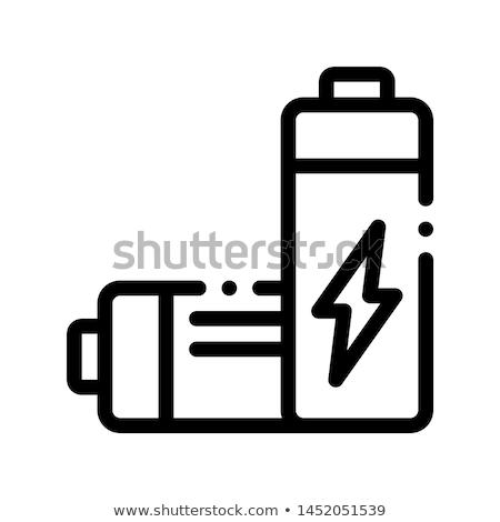 Elétrico bateria vetor fino linha ícone Foto stock © pikepicture