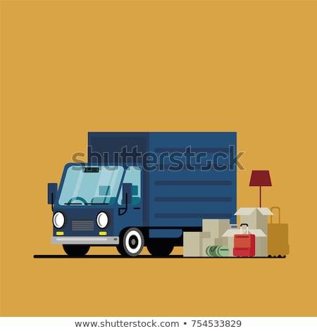 Wektora samochód dostawczy samochodu odizolowany biały Zdjęcia stock © dashadima
