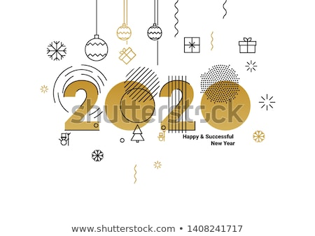 2020 New Year Party Advertising Banner Vector Stock photo © pikepicture