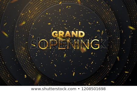 grand opening ceremony golden invitation background Stock photo © SArts