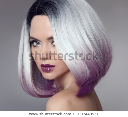 Hair salon. Trendy hair style. Short haircut. Hairdressing. Fashion and beauty concept. Portrait of  Stock photo © serdechny