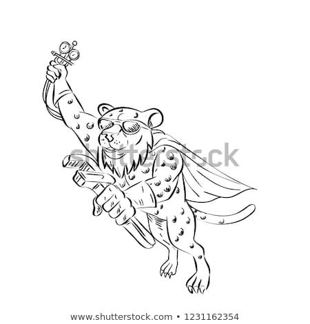 Guépard mécanicien cartoon style illustration Photo stock © patrimonio