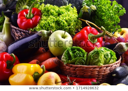 assorted raw organic vegetables stock photo © karandaev