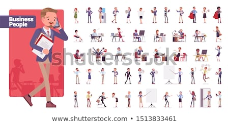 Office Employees Big Illustrations Collection Stock photo © robuart