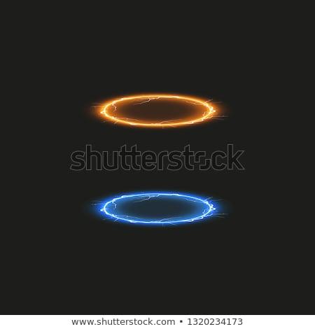 Ufo uzay seyahat örnek karikatür Stok fotoğraf © lenm