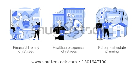 healthcare expenses of retirees concept vector illustration stock photo © rastudio