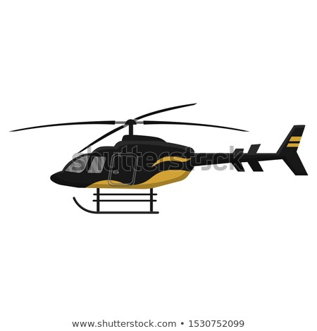 Multipurpose helicopter icon isolated on white background, air transport, aviation, vector illustrat Stock photo © MarySan