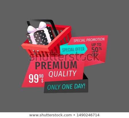 Prémium minőség nap ajánlat izolált szalag Stock fotó © robuart