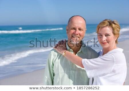 Front widoku starszy człowiek kobieta Zdjęcia stock © wavebreak_media