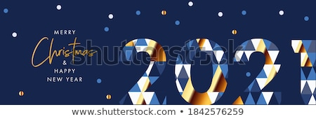 Stock photo: Merry christmas and happy new year social media banner layout