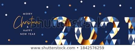 Wesoły christmas szczęśliwego nowego roku social media banner układ Zdjęcia stock © Decorwithme