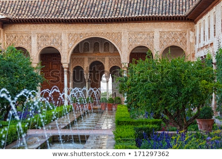 Fountain and pool in Generalife, Granada Stock photo © borisb17