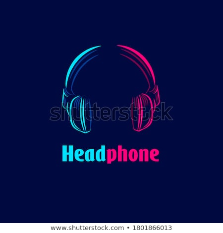 Stereo Earphone Digital Gadget Color Vector Stock photo © pikepicture