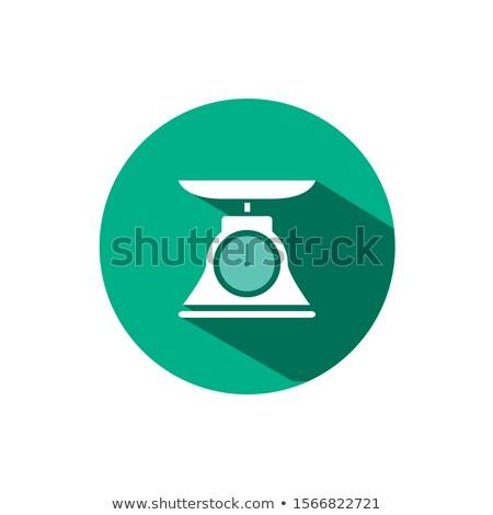 коммерческих веса масштаба икона тень зеленый Сток-фото © Imaagio