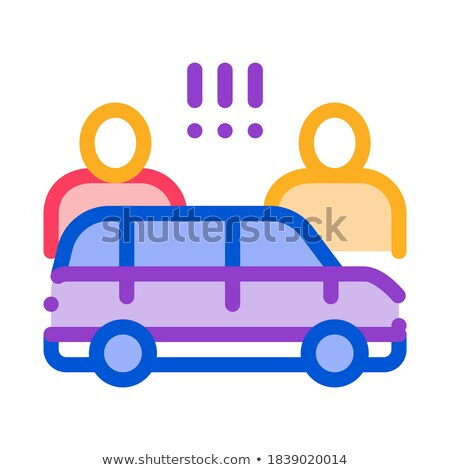 Brigar carro ícone vetor ilustração Foto stock © pikepicture