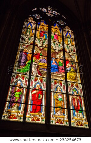 Stained glass window, Germany Stock photo © borisb17