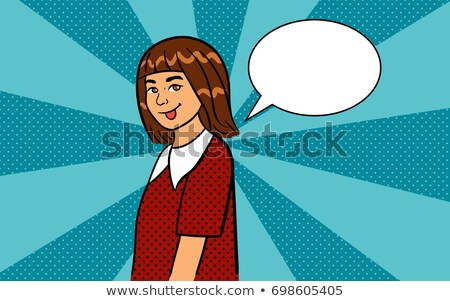 красный студент девушки языком школы Сток-фото © dolgachov