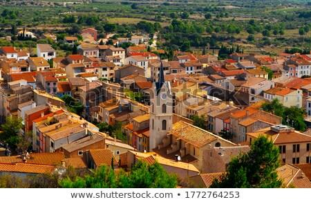 Oude binnenstad Frankrijk eenzaam tabel paar Stockfoto © nito
