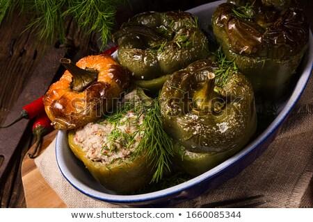Gefüllt Paprika Zucchini Käse Stock foto © Dar1930