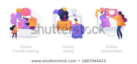 Personnes relation vecteur métaphores amitié communication Photo stock © RAStudio