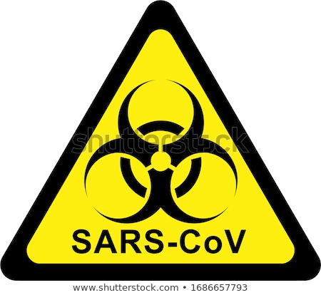 Yellow biohazard sign with MERS-Cov text Stock photo © alessandro0770