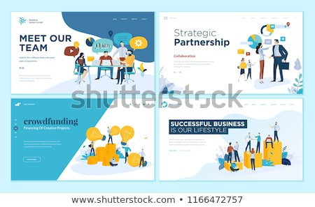 Crowdfunding concept landing page. Stock photo © RAStudio