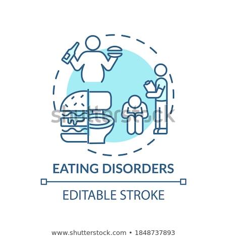 Stress Essen Vektor Metapher ungesunde Lebensmittel Stock foto © RAStudio