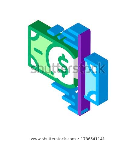 Waluta taśmy izometryczny ikona wektora podpisania Zdjęcia stock © pikepicture